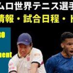 【錦織圭】1回戦2021ロッテルダムオープン(アムロ世界テニストーナメント)の試合日程と放送予定・ドロー情報