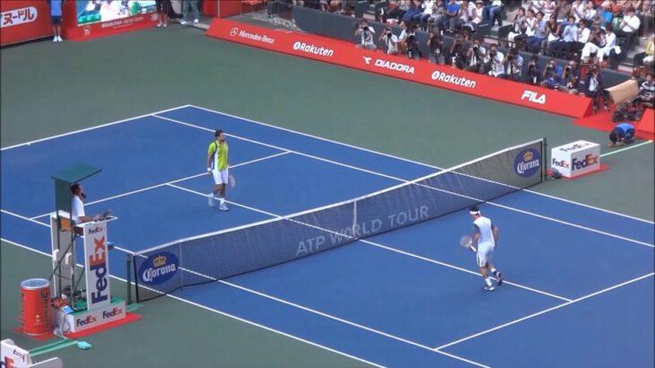 楽天ジャパンオープンテニス2014 準々決勝 錦織圭 vs ジェレミー・シャルディ 6-4 6-2(10月3日)