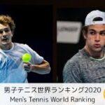 【テニス】男子テニス世界ランキング2020Men's Tennis World Ranking#テニス#tennis#ランキング#Ranking