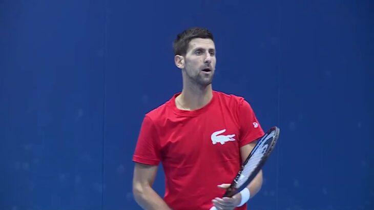 2020年Nitto ATPファイナルズ・プラクティス ノバク・ジョコビッチ(Novak Djokovic)
