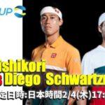 【2021年】 ATPカップ2021『錦織圭 VS ディエゴシュワルツマン』 2021年2月6日