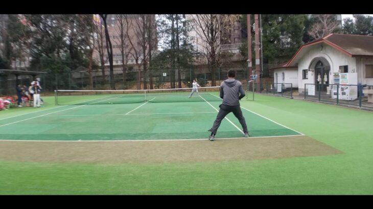 テニス ボレーストローク 芝公園202101 全日本ベテランテニス