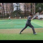 テニス ストローク 芝公園202101 全日本ベテランテニス