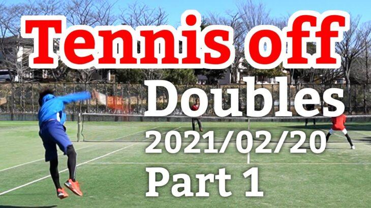 テニスオフ 2021/02/20 ダブルス 中級前後 1試合目 Tennis Doubles Practice Match Full HD