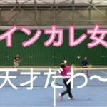 26【MSKテニス】元インカレ女子は天才だわ〜【MIXダブルス】本当に女子!?全国大会経験者女子〜ハイレベル女子〜