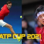 Daniil Medvedev vs Kei Nishikori 錦織 圭 Highlights   ATP Cup 2032021