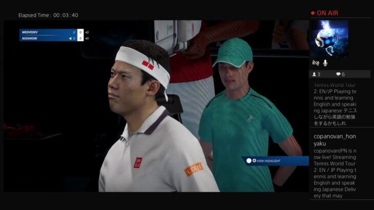 EN/JP Playing tennis and learning English and speaking Japanese テニスしながら英語の勉強