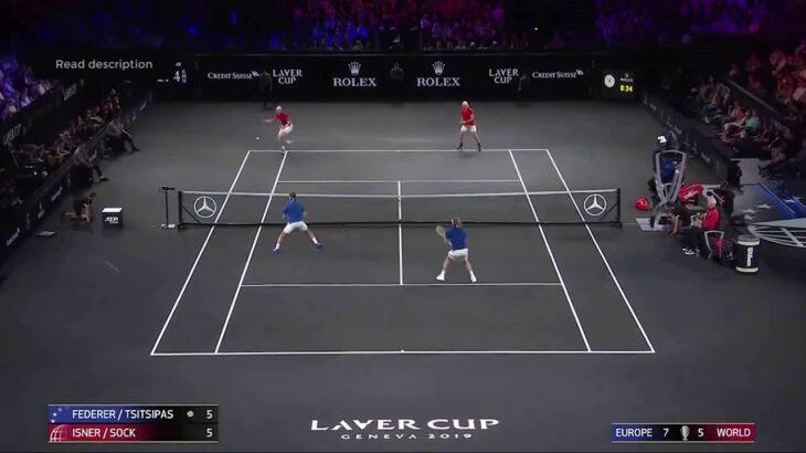 Federer (フェデラー) – Tsitsipas VS Isner – Sock LaverCup