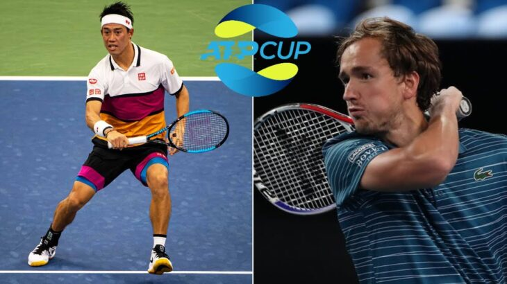 [HD] Daniil Medvedev vs Kei Nishikori(錦織 圭) Highlights ATP Cup 2021