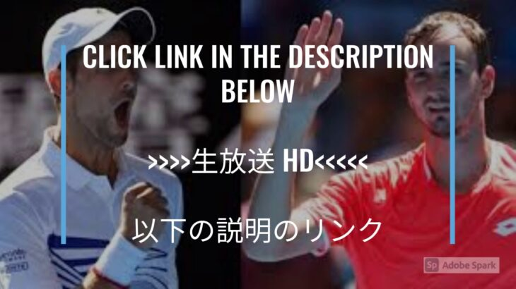 Live@///ノバク・ジョコビッチ vs ダニール・メドベージェフ 生放送 生中継 無料 全豪オープン 決勝