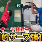 【テニス/TENNIS】必見!プロルーキー千頭昇平選手の圧倒的サーブトレーニング!