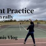 【Tennis vlog】Point practice on rally |ラリーでのポイント練習【テニス】