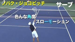 【ジョコビッチ】ノバク・ジョコビッチのサーブを研究しやすい角度の動画集【サーブ】tennis djokovic serve slow コートレベル スロー