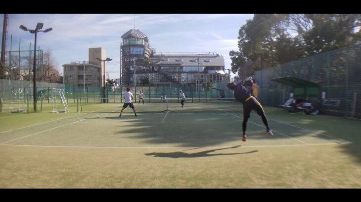 麻布テニス  ダブルスマッチ練習 全日本ベテランテニス