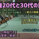 【テニス】約10歳差の激強有名テニスプレイヤーとの対戦!!試合に対する考え方など解説付き!