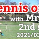 テニスオフ 2021/03/23 シングルス Mさん 2セット目
