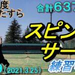 #49【tennis】1年間でスピンサーブ(キックサーブ)を打てるようになるか(6222~6374)