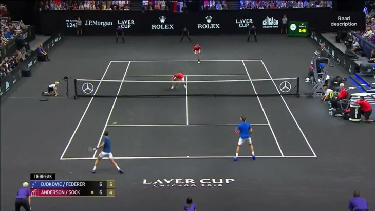 Federer (フェデラー) – Djokovic (ジョコビッチ) VS Sock – Anderson