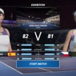 PS4 GAME Kvitova vs Muguruza Dubai open 2021 Tennis world tour