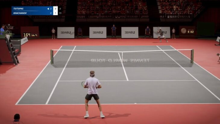 [TVgame PS4] Tsitsipas vs Khachanov [Tennis World Tour 2]