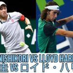 錦織圭 VS ロイド・ハリス | Lloyd Harris vs Kei Nishikori | Dubai 2021 | Full Match Highlights