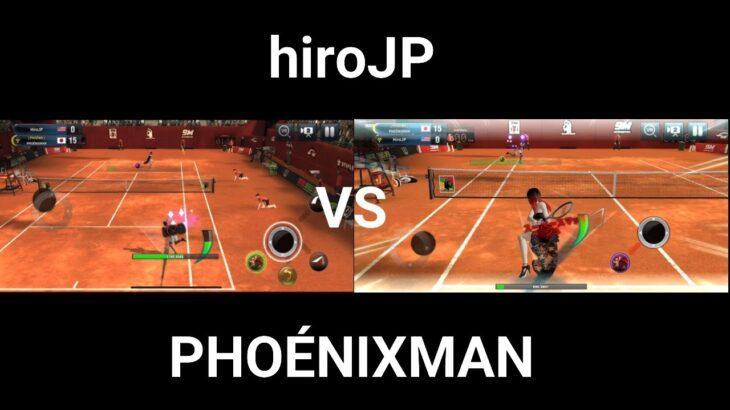 hiroJP VS PHOÉNIXMAN ultimate tennis (アルティメットテニス)#テニスゲーム