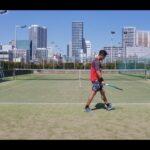 【テニス】tennis 芝浦シングルスマッチ練 202103 全日本ベテランテニス①
