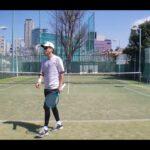 【テニス】tennis 青山シングルスマッチ練 202103 全日本ベテランテニス②