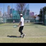 【テニス】tennis 青山シングルスマッチ練 202103 全日本ベテランテニス①