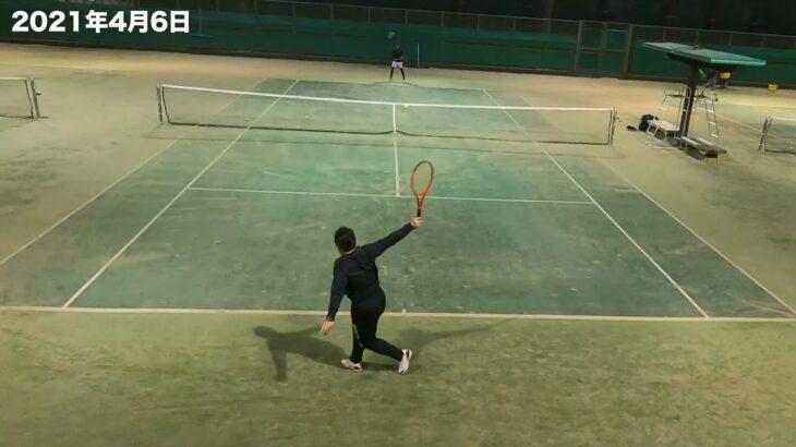 【テニス・ラリー動画】ただのラリー動画です(フェデラーファンとマレーファン) #1 (2021/4/6)