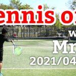 テニスオフ 2021/04/10 シングルス Tさん