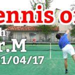 テニスオフ 2021/04/17 シングルス Mさん