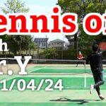 テニスオフ 2021/04/24 シングルス Yさん