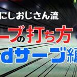 【テニス】にしおじさん流サーブの打ち方!!~2ndサーブ編~