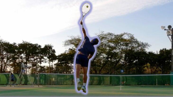ナダルを真似する初心者のボッチサーブ練習 【Copying Rafael Nadal】