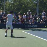Kei Nishikori Practice and the moment Wawrinka won at the 2016 US Open / 2016全米 錦織圭 練習コート