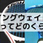 """[テニスQ&A #2] ラケットのスイングウェイト(SW)の""""標準""""ってどのくらいなの?285って重いの?軽いの?(硬式テニスラケット)"""