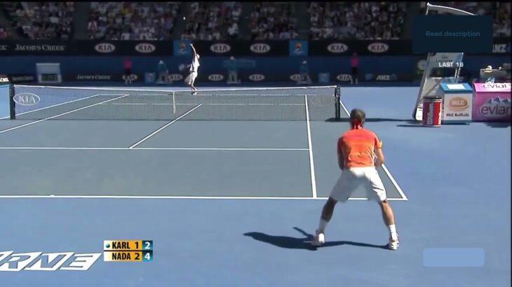 Rafa Nadal (ラファエル ナダル) VS Karlovic (イボ カロビッチ)