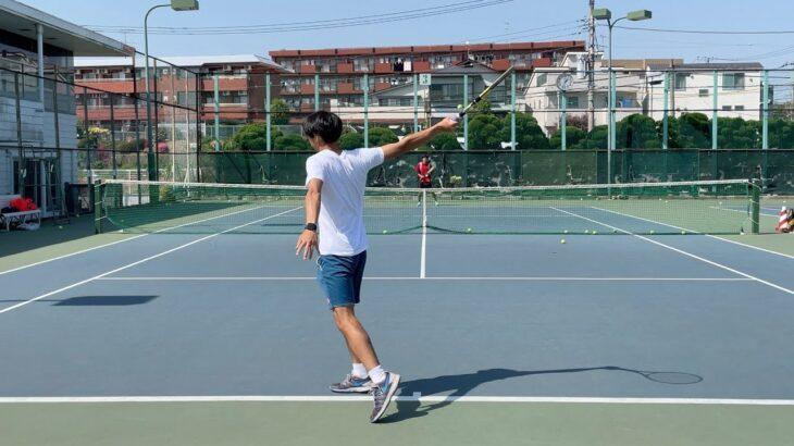【テニス】フェデラー風に練習するけどめっちゃ下手な奴#Shorts【ねぱモニ】【フェデラー】