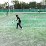 Tennis on a windy day  風の強い日のテニス