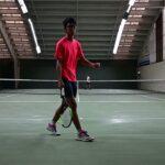 テニス初心者 Tennis practice 2