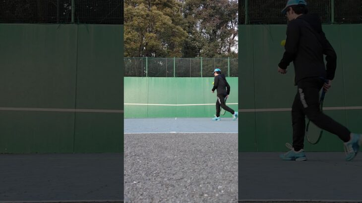 【卓球コーチ】がテニスコーチにもなるための修行!? テニスのまた抜きショットに挑戦!!【後編】(tennis) #Shorts