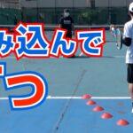 【テニスの球出しドリル1】ボールの後ろから入る