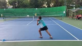 テニス ジュニア11歳 フォアハンド練習 2021年5月14日Tennis junior 11 years old forehand practice