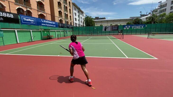 テニス 11歳女子 試合形式 練習 2021/5/22 Tennis junior 11years Girl match practice