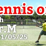 テニスオフ 2021/05/25 シングルス 中級前後 Tennis with Mr.M Men's Singles Practice Match Full HD