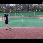 【テニス・ラリー動画】#3 フェデラーを目指す男のバックハンドのみのラリー動画です(フェデラーファン)