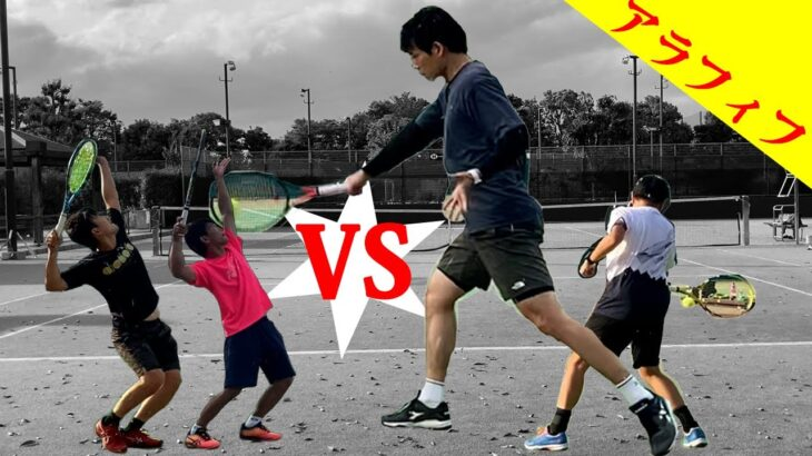 【テニス/ダブルス】上手な30代とダブルス練習!おしゃれテニスと組んで3試合目【TENNIS】