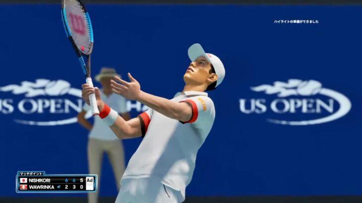 【AOテニス2】マラソンマンの真骨頂!錦織圭 v バブリンカ – 全米 2014
