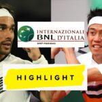 Fabio Fognini vs  Kei Nishikori 錦織圭  Highlights ROME 2021